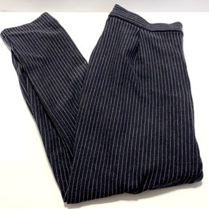 Old Navy Pinstriped High Waisted Navy Pants Small